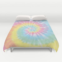 Pastel Tie Dye Duvet Cover by Kate