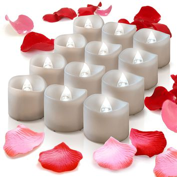 Flameless Candles With Timer, Wreath, Mason Jar, Votive Wrap