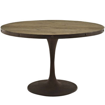"""Brown Drive 48"""" Round Wood Top Dining Table"""