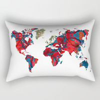 world map art 8 Rectangular Pillow by Lionmixart