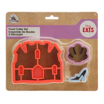 Disney Eats Princess Food Cutter Set Castle Seashell and Slipper New with Card