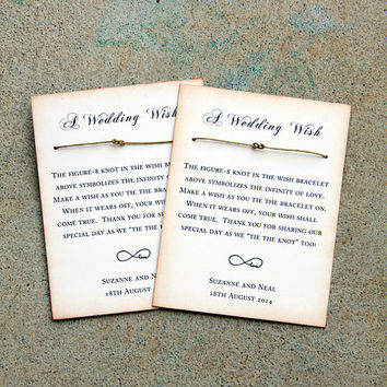 Rustic Wedding Favor set of 25, Wedding wishing bracelets, shabby wedding favor, love bracelet, wishing well bracelet, burlap & lace wedding