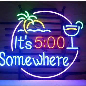 It's 5 O'Clock Somewhere Neon Sign