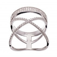 Crown Crossover Ring