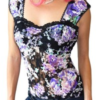 Women's Wicked Garden Lace Pinup Top
