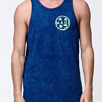 Maui & Sons Nuclear Cookie Tank Top - Mens Tee - Green/Navy