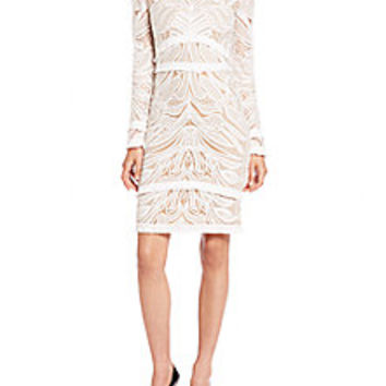 Alexis - Chester Fringe-Trim Lace Dress - Saks Fifth Avenue Mobile