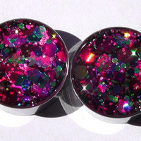 Fiesta Sparkle Plugs Embedded Resin Filled Made to by GlitzGauge