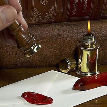 The Rose Wax Seal Stamp with Rose wood Handle Ideal for decorating gift packing, envelopes, parcels
