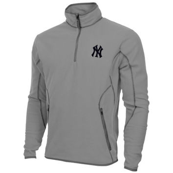 Antigua New York Yankees Ice Polar Fleece 1/4-Zip Jacket - Silver
