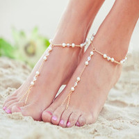 Sexy Ladies Gift Cute Shiny Jewelry New Arrival Stylish Crystal Handcrafts Pearls Anklet [6042905089]