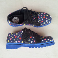 blue canvas shoes stars blue sole handmade women boots Rangkayo casual sneakers Preorder