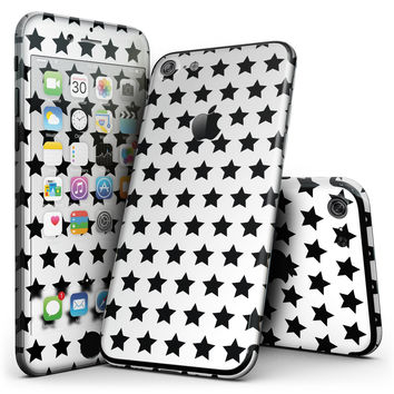 Slate Black All Over Star Pattern - 4-Piece Skin Kit for the iPhone 7 or 7 Plus