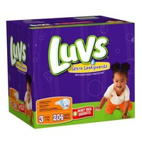 Luvs With Ultra Leakguards Size 3 Diapers 204 Count   deviazon.com