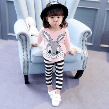 Bunny Stripe Kids Pajama Set