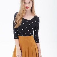 FOREVER 21 Heart Print Top