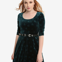 Her Universe Marvel Loki Velvet Embossed Dress