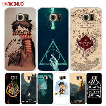 HAMEINUO Marauders Harry Potter DEATHLY HALLOW QOUTES cell phone case cover for Samsung Galaxy S7 edge PLUS S8 S6 S5 S4 S3 MINI