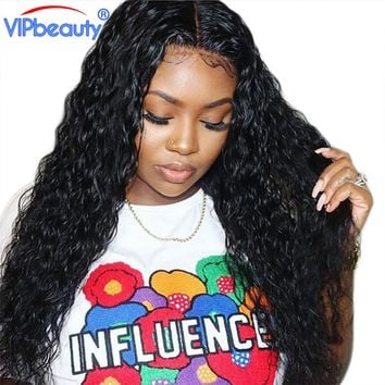 VIP Beauty Water Wave Human Hair 4 Bundles Non Remy Extensions Peruvian Hair Weave Natural Black Color Free Shipping