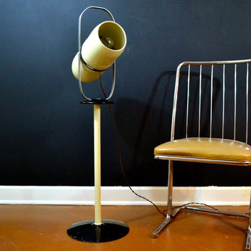WORKING Westinghouse Heat/Sun Lamp, Vintage Steampunk Lighting, Atomic Floor Lamp