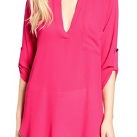 Lush Perfect'Roll Tab Sleeve Tunic | Nordstrom