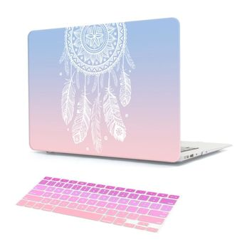 Plastic Hard Case with Keyboard Cover for MacBook Air 13 11 Pro 13 15 Retina Display & Touch Bar New 12 13 Inch Dream Catcher
