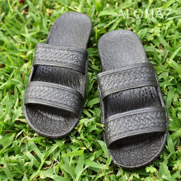classic black pali hawaii sandals