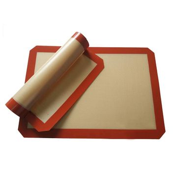 42*29.5cm Red Silpat Non-Stick Silicone Baking Mat Pad Glass Fiber Rolling Dough Sheet for Cake Cookie Macaron Kitchen Tools