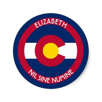 Colorado The Centennial State Personalized Flag Classic Round Sticker