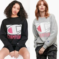 Champion Super Star Hip-hop Black Grey Pullover Sweatershirt [11539627404]