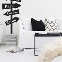 Wall Decal Vinyl Sticker Street Sign NY London Custom Countryes Cites  r1366