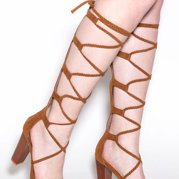 Braid Parade Gladiator Heels