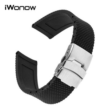Silicone Rubber Watchband for Luminox Maurice Lacroix Hamilton Watch Band Steel Buckle Wrist Strap 17 18 19 20 21 22 23 24mm