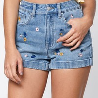 PacSun Indigo Garden Mom Shorts at PacSun.com