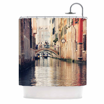 "Sylvia Coomes ""Venice 10"" Beige Brown Shower Curtain"