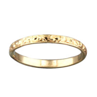 Pattern Ring Thin - Gold Filled