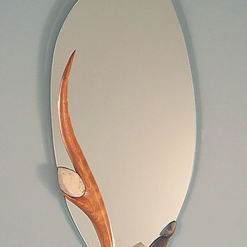 River Lullaby by Jan Jacque (Ceramic & Wood Mirror) | Artful Home