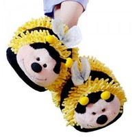 Fuzzy Slippers - Bumble Bee (Adult)