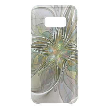 Floral Fantasy Modern Fractal Art Flower With Gold Get Uncommon Samsung Galaxy S8 Case