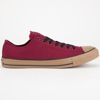 Converse Chuck Taylor All Star Low Gum Mens Shoes Burgundy  In Sizes
