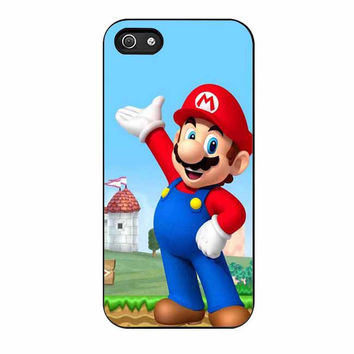 mario and princess peach right cases for iphone se 5 5s 5c 4 4s 6 6s plus