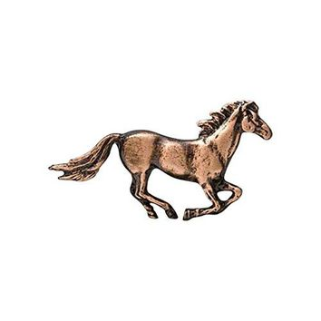Creative Pewter Designs Pewter Horse Galloping Handcrafted Lapel Pin Brooch M132