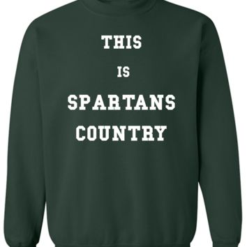 Michigan State-Spartans Country Basic Sweatshirt