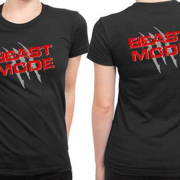 DCCKL83 Beast Mode 2 Sided Womens T Shirt
