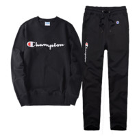 Champion Casual Pullover Sweater Pants Trousers Set Two-Piece