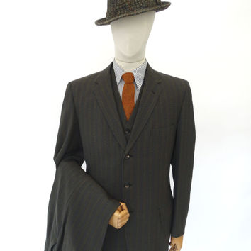 VINTAGE 1950s 1960s HARRODS SUIT 40 LONG W36
