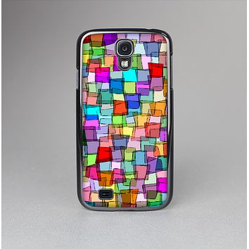 The Vibrant Colored Abstract Cubes Skin-Sert Case for the Samsung Galaxy S4