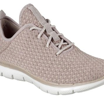 Skechers Taupe Flex Appeal 2.0 - Bold Move Shoes