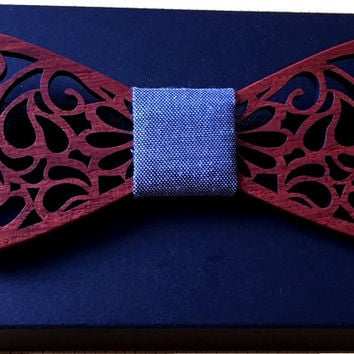 wooden bow tie 2016 New Fashion Personality Dot Bow Tie Wooden Butterfly Neck Tie For Men Jewelry Accessories new wood
