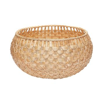 Large Natural Fish Scale Basket Natural